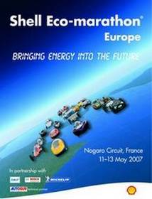 AFFICHE  SHELL ECO MARATHON EUROPE 2007